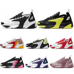 2020 scarpe sportive di lifestyle Nike Zoom 2K Uomo Zoom 2K Scarpe da corsa Lifestyle Bianco Nero Blu ZM Trainer Designer Outdoor Sneakers M2K Formato sportivo confortevole 36-45 scarpe sportive di lifestyle economici