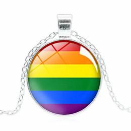2019 stolz schmuck Halskette Bi Pride Glaskuppel Anhänger Halskette Gay Pride Regenbogenfahne Foto Glas Cabochon Schmuck für Frauen Männer Liebhaber rabatt stolz schmuck