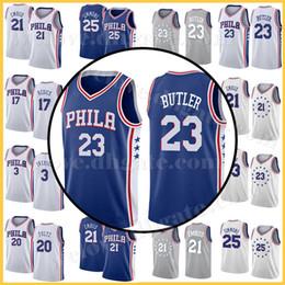 68471848721c Mens Philadelphia Joel 21 Embiid Ben 25 Simmons 23 Jimmy Markelle 20 Fultz  76ers Jersey Allen 3 Iverson Maglie cucite
