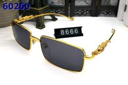 Mujeres Vintage gafas de sol sin montura de gran tamaño lentes transparentes Templos de metal plateado dorado gafas de sol para hombre gafas mujer sol desde fabricantes