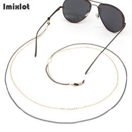 Titular de espetáculos on-line-Moda Cadeia De Óculos De Leitura Para As Mulheres 2 Camadas De Metal óculos de Sol Óculos Óculos Cadeia de Cordão Titular Cordão Neck Strap