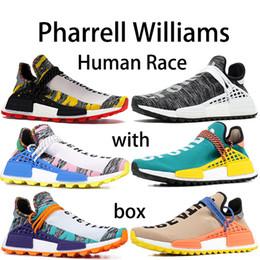 2019 zapatos originales de la raza humana Adidas Pharrell Williams Human Race  Zapatillas de running para mujer para hombre 2019 Nuevo diseñador Plata Oro Pana metálica Blanco UNDFTD Bullet 3M Zapatillas reflectantes US5.5-11 zapatos originales de la raza humana baratos