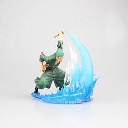 Presente de aniversário de uma peça on-line-Anime ONE PIECE O Chapéu De Palha Piratas Roronoa Zoro Combate Cena PVC Action Figure Collectible Modelo Brinquedos Para Presente De Aniversário Da Criança