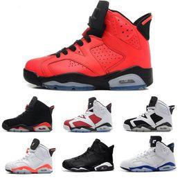 3c608beedbe Chaude 6 VI hommes femmes Chaussures De Basket JVI 6 MVP Suppléant Carmine  Sport Bleu Marron Noir Chat Définir Moments Chaussures De Sport Sneaker
