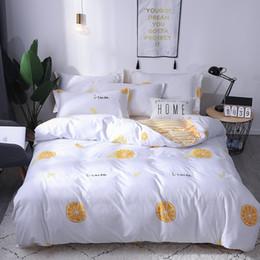 bedruckte baumwollblumensteppdecke Rabatt 3 stücke Floral Bunte Bettwäsche Set Hipster Böhmischen Stil Bettbezug Tribut Baumwolle Kissenbezug Kreative Druck B1