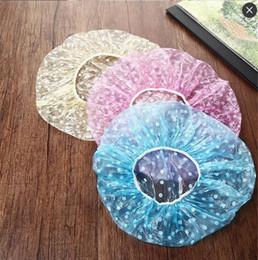 оптовые персы для волос Скидка ГОРЯЧАЯ одноразовая пластиковая шапочка для душа Водонепроницаемая эластичная пластиковая шапочка для купания одноразовая