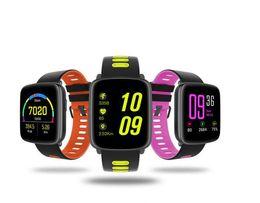 Reloj de pulsera de seguimiento online-GV68 Bluetooth reloj de pulsera inteligente BLE 4.0 IP68 a prueba de agua IPS 1.22 pantalla grande reloj de seguimiento de fitness