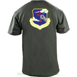 Areja personalizado on-line-Comando Aéreo Estratégico Full Color Veteran Patch T-shirt Camisa Personalizada T Camisa Personalizada T
