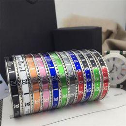 Relojes de lujo de estilo vintage online-Pulseras punky del partido para hombre de los relojes de lujo de estilo brazalete pulsera brazalete de la manera de acero inoxidable para las mujeres de los hombres joyería de los pares con la caja