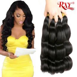 2019 cabelo virgem de 32 polegadas de onda corporal Onda do corpo RXY cabelo humano 4 pacotes cabelo virgem brasileiro feixes de onda do corpo por atacado 10-26 polegada tecelagem de cabelo malaio peruano indiano cabelo virgem de 32 polegadas de onda corporal barato