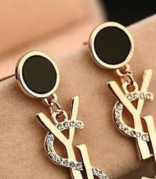 invitaciones de boda broche Rebajas 2019New Luxury Brand Designer Stud Earrings Letters Ear Stud Earring oro plata joyas accesorios regalo para mujeres niñas envío gratis