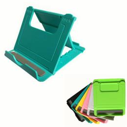 Porta-comprimidos de plástico on-line-Mesa dobrável universal Suporte de Telefone Celular Suporte De Plástico Suporte de Mesa para o Seu Telefone Smartphone Tablet Suporte de Telefone Mini Titular