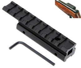 крепление типа ласточкин хвост Скидка Тактический адаптер ласточкиного хвоста Picatinny Weaver Riser Rail 11мм до 20мм для охоты