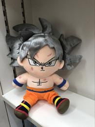 23cm Anime Dragon Ball Z Super Saiyan gri saç Goku Peluş kolye oyuncak Yumuşak dolması bebek kolye Hediye nereden