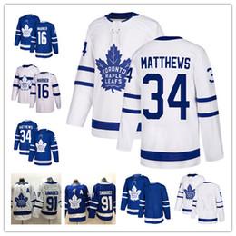 183613a810b 2019 Men Youth Toronto Maple Leafs 91 John Tavares A patch 34 Auston  Matthews 16 Mitchell Marner hockey Jersey stitched