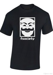 "Mr mask онлайн-MR. ROBOT T SHIRT ""F SOCIETY MASK"" E CORP ВЗЛОМ УНИСЕКС МУЖЧИНЫ ДЕТИ ФУТБОЛКА ТРОЙНИК"