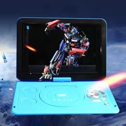 dvd recargable Rebajas 13.9inch Outdoor Home HD Portable USB LCD LCD Mini reproductor de DVD TV Pantalla giratoria Batería recargable para automóvil