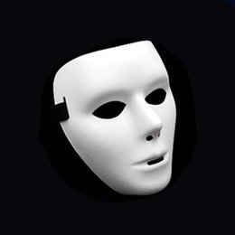 2019 máscara de fantasma rosto cheio Máscara de Halloween Dançarino Fantasma Dança Dança de Rua Máscara Hip Hop Bola Branca Ceifador Ceifador Homem De Páscoa Rosto Cheio máscara de fantasma rosto cheio barato