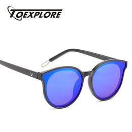 occhiali da sole di disegno di trasporto di goccia Sconti TOEXPLORE Fahion Oval Women Occhiali da sole Uomo Brand Designer Eyewear Vintage Retro Luxury Mirror Occhiali da sole Ragazzi UV400 Drop Ship