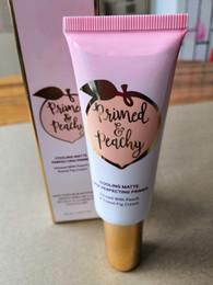 Venta al por mayor más reciente! Pinky Peach Prime Peachy Cooling Matte Perfecting Primer Cream Pre-maquillaje de leche envío rápido 40ML desde fabricantes