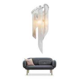Светильники настенные для гостиной онлайн-Алюминий цепь бра лампа E14 220 В из светодиодов современное освещение для гостиной Атлантида настенный светильник алюминиевый цепи освещения стены светильник