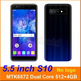 Sim, telefones gratuitos baratos on-line-5.5 polegada s10 Dual Core MTK6572 Android 6.0 telefone Inteligente 4 GB Dual SIM câmera 5MP 480 * 960 3G WCDMA Desbloqueado Gesto Móvel wake Livre DHL barato