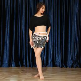 Argentina Sexy Black Crop Top Mujeres Lentejuela Hip Bufanda Cinturón Trajes de danza del vientre Traje Disfraces para la venta Ropa de baile Set Bellydance Wear supplier dance outfits for women Suministro