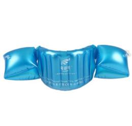 Niños nadando inflables online-Inflable inflable para niños brazo del brazo del flotador del bebé niño niña natación círculo flotador nadador entrenador flotabilidad piscina accesorios