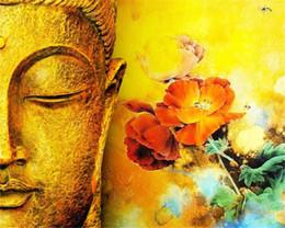 Deutschland Malen nach Zahlen DIY Ölgemälde Hauptwanddekor Festival Geschenk - Golden Buddha Blumen 16 x 20 Zoll Digitales Ölgemälde für Erwachsene Anfänger Versorgung