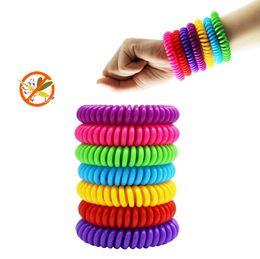 2019 anti-moskito-abweisendes armband armband Anti Mückenschutz Armband Stretchable Elastic Coil Spiral Hand Armband Telefon Ring Kette Anti-Mücken-Armband Moskito Killer günstig anti-moskito-abweisendes armband armband