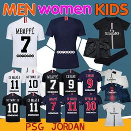 2019 PSG Maillot de París camiseta de fútbol MBAPPE CAVANI VERRATTI top  thailand hombres mujeres Niños en casa Tercer KIMPEMBE Camiseta de futbol 9ef842297bac9