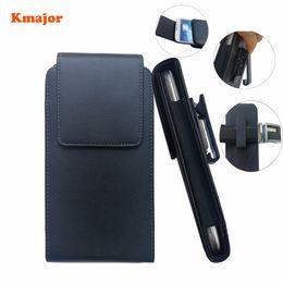 клипсы для сотовых телефонов Скидка Кожаные сумки на 360 градусов Поворотный зажим для ремня Кобура Мужская кожаная сумка-талия Fanny Cell / Mobile Phone для Letv Le 2 X620 X625