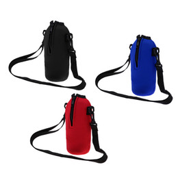 garrafas de água mochila Desconto 750 ml Sports Garrafa de Água Titular Sleeve Bag Neoprene Carry Pouch Case para o Acampamento Ao Ar Livre Caminhadas Mochila Em Execução de Ciclismo