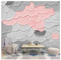 Fondos de pantalla de graffiti online-Macarone fondo de pantalla de graffiti arte de la pintura mural de gradiente macarrón color de la textura del papel pintado del papel pintado de panadería wanghong