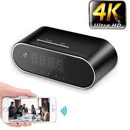 versteckte camcorderuhr Rabatt 4K / 1080P Fernerkennungs-Mini-Uhr-Kamera-Alarm P2P Livecam IR Nachtsicht Wifi-Cam-IP-Mini-DV-DVR-Camcorder Unsichtbar versteckt