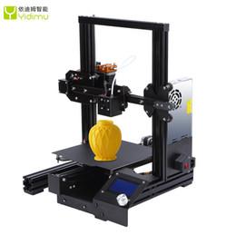 2019 repus prusa i3 kit Verbesserte 3D-Drucker Aluminiumlegierung 3D-Drucker High Precision DIY Kits Selbst zusammenbauen 220 * 220 * 250mm mit Resume-Drucker