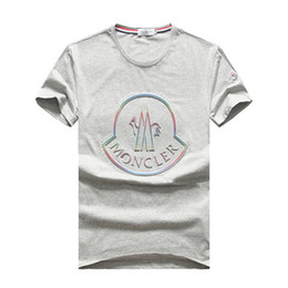 SıCAK 2019 Yaz M Marka Kısa Kollu Erkek T-shirt 8003 M horoz tasarımcı Fransa Moda O-Boyun pamuk Adam Giyim tişört Yuvarlak yaka tees nereden