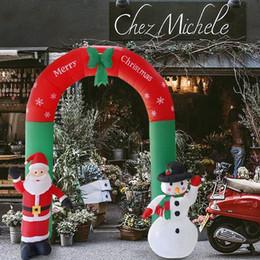 Arche Gonflable Père Noël Bonhomme De Neige De Noël Décorations De Noël Extérieur New Year Party Accueil Boutique Jardin Décoration De Jardin