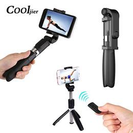 Canada COOLJIER Universel Sans Fil Bluetooth Selfie Bâton Mini Téléphone Pliable Trépied Extensible Monopod Pour iPhone 8 X 7 6 s Plus Offre
