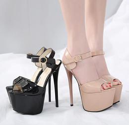 338205623078 Discount 17cm heels - 17cm 2019 Nude platform ultra high heel sexy party  queen nightclub dance