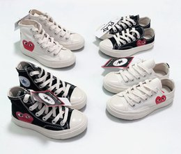 All Star 70s Hi C D G PLAY Kids Shoes For Girl Boys Canvas Shoes High Quality White Black Toddler Children Sneakers Size 23 35