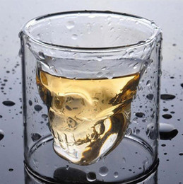 25-250 ML Criativo 4 Tamanho Dupla Parede Crânio Shot Coffee Beer Cup Vinho Transparente Whisky Champagne Cocktails Cups Drinkware Presente Do Partido de