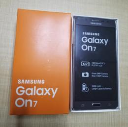 мобильные телефоны samsung dual sim Скидка Разблокирована Samsung Galaxy On7 G6000 Мобильный телефон Quad Core 13MP 4G LTE Android телефон 1280x720 Dual SIM отремонтированный смартфон