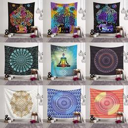 Toallas personalizadas online-150 * 130 cm Tapices de verano Mandala de playa Mandala de Bohemia folk-custom Yoga Mat Elefante impresión Mantón de Baño Toalla MMA2234