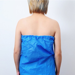beauty salon clothes Promo Codes - 20190601 Beauty salon disposable bathing skirt sauna bathing non-woven cloth chest sweat steamed clothes