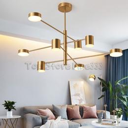 quarto de ouro branco preto Desconto Designer de moda moderna Preto Branco Ouro Levou Art Deco Lustre Suspenso Lâmpada Luz para Cozinha Sala de estar Loft Quarto