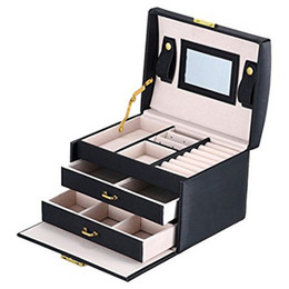 beauty bedding Coupons - Jewelry box case   boxes   cosmetic box, jewelry and cosmetics beauty case with 2 drawers 3 layers