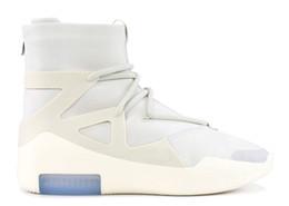 2019 vendas diárias 2019 Sapatos de Grife Medo de Deus AR4237-002 Osso Liso Preto Homens Mulheres Moda Botas de Nevoeiro De Couro Real Com Caixa Para Venda Tamanho 7-12 vendas diárias barato