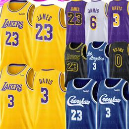 Camisas de basquete on-line-LeBron James 23 Anthony 3 Davis Jersey NCAA Kobe Bryant 24 Kyle 0 Kuzma 6 James Jersey Universidade Crenshaw Basketball Jerseys