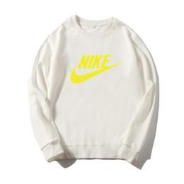 2019 roupas de outono crianças Novo outono crianças camisola da marca meninos meninas de manga comprida t-shirt do hoodie esportes Casual top crianças em torno do pescoço Roupas camisola NIKE roupas de outono crianças barato